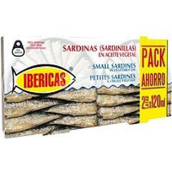 Ibéricas Sardinilla en aceite Pack 2x120 g