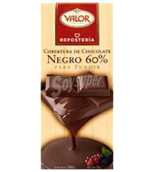 Valor Cobertura de chocolate negro 60% para fundir 200 g