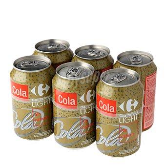 Carrefour Refresco de cola light sin cafeína 33 cl