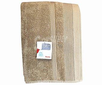 Auchan Toalla para ducha de algodón, color beige, 70x140 centímetros, densidad: 500 gramos/m² 1 Unidad