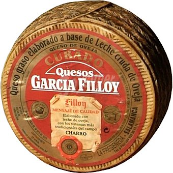 GARCIA FILLOY Queso curado leche cruda de oveja  3 kg (peso aproximado pieza)
