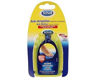 Scholl Apósitos anti-ampollas invisibles para dedos alivio instantáneo Blister 6 u