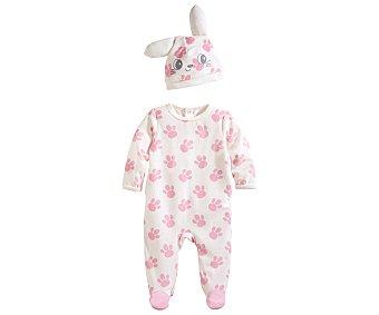 In Extenso Pijama pelele de bebe aterciopelado, color rosa, talla 74