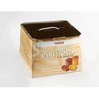 Eroski 4 mini panettones surtidos 2 clasicos y 2 chocolate caja