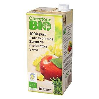 Carrefour Bio Zumo de melocotón y uva 1 l