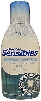 DELIPLUS Enjuague bucal dientes sensibles sin alcohol Botella 500 ml