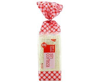 Auchan Pan de Molde Blanco Sin Corteza 450g