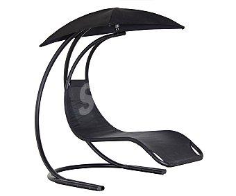 GARDEN STAR Balancín de 1 plazas modelo Piloto, con estructura de acero y asiento y sombrilla de textileno de color negro 1 unidad