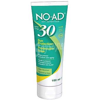 NO-AD Protección solar FP-30 ayuda a prevenir el envejecimiento prematuro de la piel resistente al agua Tubo 100 ml