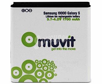 MUVIT Batería de litio, capacidad 1700mAh, compatible con Samsung Galaxy S