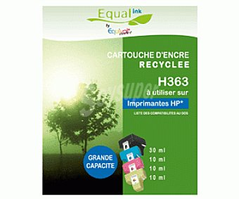 Equalink Cartuchos Reciclados de Tinta H363 Varios Colores (negro, Cian, Magenta, Amarillo) 4u