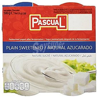 Pascual Yogur natural azucarado Pack 4x125 g