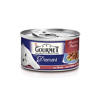 Purina Gourmet Comida húmeda para gatos adultos finas lonchas buey Lata 85 g