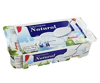 Auchan Yogur natural Pack de 8 unidades de 125 gramos