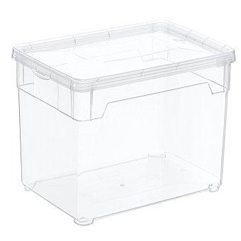 Carrefour Home Caja con tapa de Plástico Basic 5 Litros - Transparente 1 ud