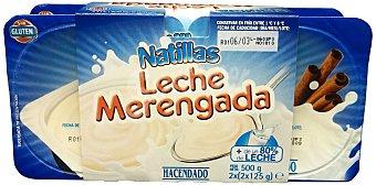 Hacendado Natillas leche merengada 4 unidades de 125 g (500 g)
