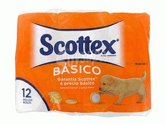 Scottex Papel higiénico básico 12 ud