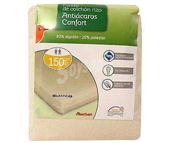 AUCHAN Funda de colchón rizo antibacterias, 150 centímetros 1 Unidad