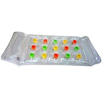 Euraspa Colchoneta hinchable transparente con almohada, recomendada para niños de + 4 años 1 unidad