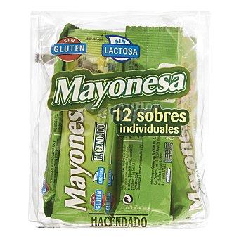 Hacendado Mayonesa en sobres individuales Pack 12 x 20 g - 240 g