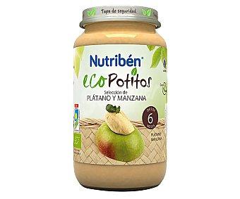 Nutribén Potitos® de fruta (plátano y manzana) ecológica seleccionada a partir de 6 meses Ecopotitos 235 g