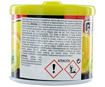 ROLMOVIL Ambientador en gel para coche, en envase de lata con dosificador y con olor a limón 1 unidad