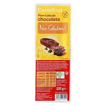 Carrefour-No gluten Pastel de chocolate 225 g