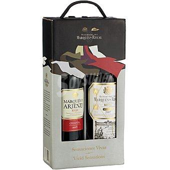 Marqués de Riscal Vino tinto reserva y Marqués de Arienzo vino tinto crianza  Estuche 2 botellas 75 cl
