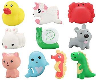 Figura Surtido de figuras antiestrés con forma de animales, Squeeze me, FIGURA.