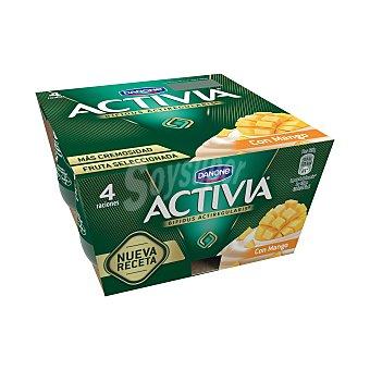 Danone Activia Activia Mango Activia 4 unidades de 125 g