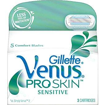 Venus Gillete Recambio de maquinilla depilatoria Estuche 3 unidades