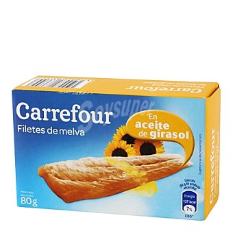 Carrefour Filetes de melva en aceite de girasol 80 g