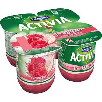 Activia Danone Yogur con frambuesa y lichi Fruitfusion 4 unidades de 125 g