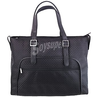 """Ansonic Bolso maletín para portátil 15,6"""" en color negro"""