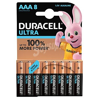 Duracell Pila alcalina Ultra Power LR03 Pack 8 uds