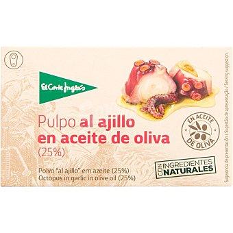 El Corte Inglés Pulpo al ajillo en aceite de oliva Lata 72 g neto escurrido