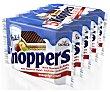 Galletas de barquillo relleno con crema de leche y crema de avellanas crispy Pack 5 x 25 g Knoppers