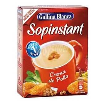 Sopinstant Gallina Blanca Sopinstant crema de pollo picatostes 3 sobres, caja 63 g