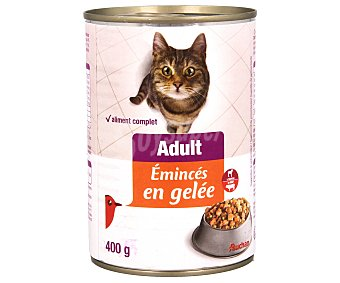 Auchan Comida Húmeda para Gatos ,bocaditos Gelatina Buey Lata 400 Gramos