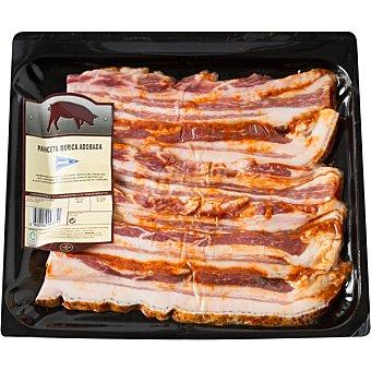 Hipercor Panceta de cerdo ibérico adobado en filetes peso aproximado Bandeja 600 g