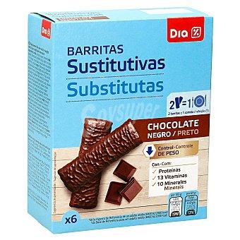 DIA Vital Barritas sustitutivas chocolate negro Caja 6 u x 32 g - 192 g