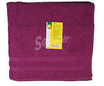 Productos Económicos Alcampo Toalla de baño color morado, 100x130 centímetros. Toallas 100% algodón y densidad de 360 gramos/m² 1 unidad