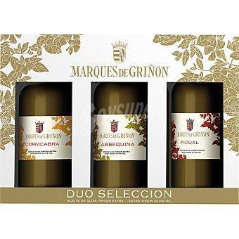 MARQUES DE GRIÑON aceite virgen extra arbequina, picual y conicabra estuche de 3 botellas 500 ml