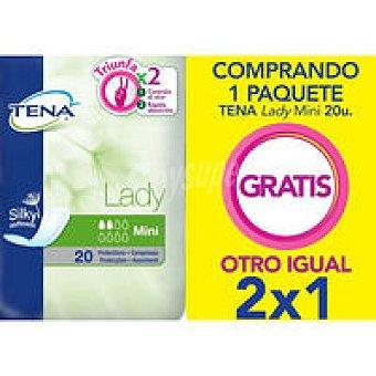 Tena Lady Compresa de incontinencia mini Paquete 20+20 unid