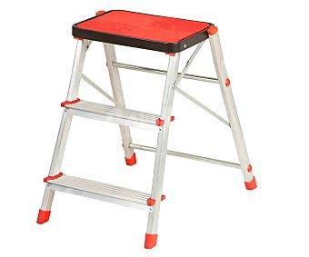 Sonecol Escalerilla de aluminio con pasos protegidos y 3 peldaños sonecol