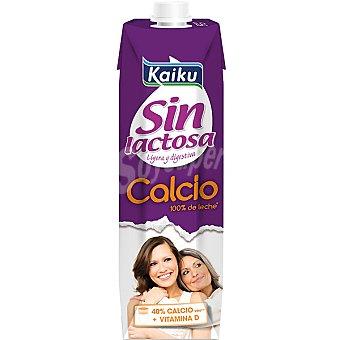 Kaiku Sin Lactosa Leche enriquecida con calcio + Vitamina D Envase 1 l