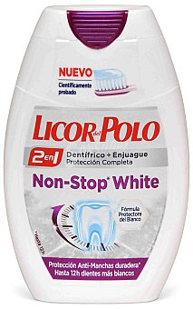 Licor del Polo Dentífrico 2 en 1 Non Stop White 75 ml