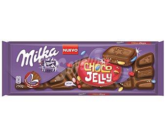 Milka Choco Jelly. Chocolate con leche relleno de caramelos de goma  tableta 250 g