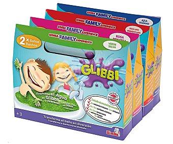 Simba Glibbi para baños divertidos, incluye 2 sobres Glibbi y 2 disolventes, disponible en 4 colores 1 unidad