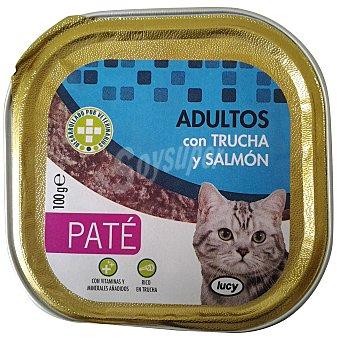 Lucy Comida gato adultos pate trucha salmon Tarrina 100 g